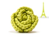 Lime green rose ring - original gift from France - FromParis