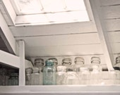 "Vintage Glass Jars in a White Kitchen -  8 x 10"" - Fine Art Photo - BrookeRyanPhoto"