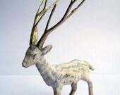 Papier-mâché Deer - blankettiger