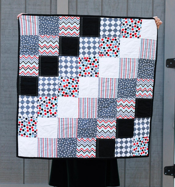 baby quilt.  Ann Kelle remix.  gender neutral.