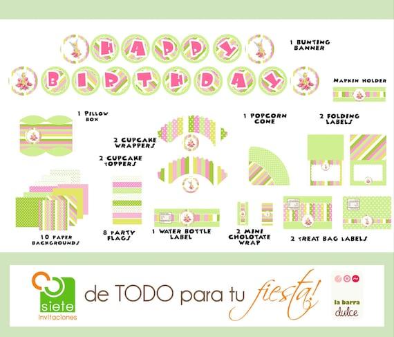 Tinkerbell PRINTABLE Party kit Tinker bell fairy Campanita Hadas Periwinkle La Fée Clochette Mundo das Fadas Sininho