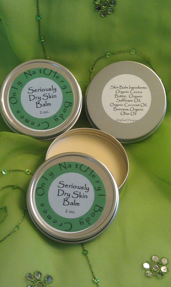 Seriously Dry Skin Balm made with Organic Oils, 2 oz.