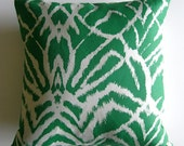 Emerald Wild Ikat cushion cover - Tangoandjameshome
