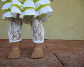 White Lace Leggings - 18 Inch Doll Clothing