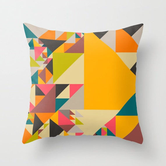 Pillow Cover, (18x18) Colourful Abstract for the Home Decor by Modern Artist Jazzberry Blue