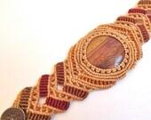 Macrame bracelet - Earth Toned Jasper - neferknots