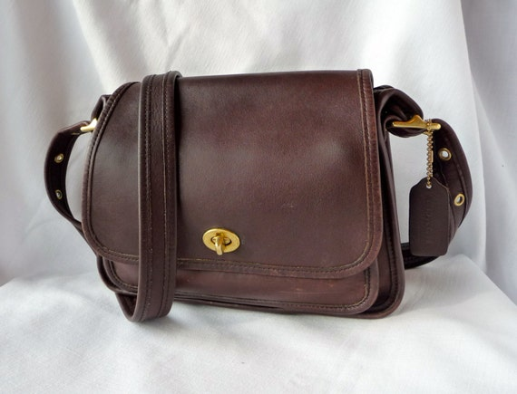 Vintage COACH Rambler Legacy Bag in Brown Leather