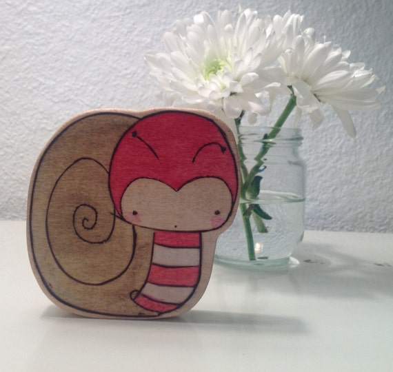 Solomon the Sweetest Snail Wooden Doll