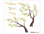 Tree Clipart Tree in Wind, Leaves, Branch, Leaf, Windy Clip Art : Digital Clip Art PNG & JPEG 300 dpi