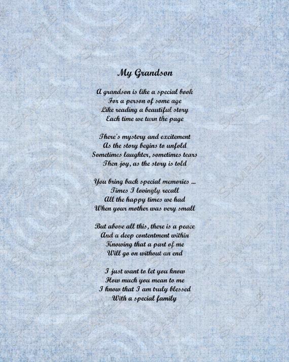 Grandson Poems Grandparents Quote