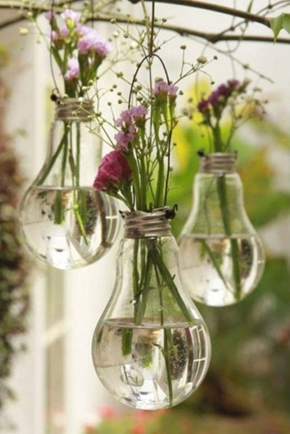 Vintage Vase from Recycled Light Bulb