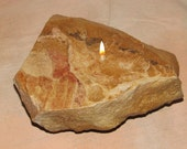 Handcrafted OOAK Oil Burning Rock Candle, 1 wick,  Item Number OR1-10 - InspiredEnterprises