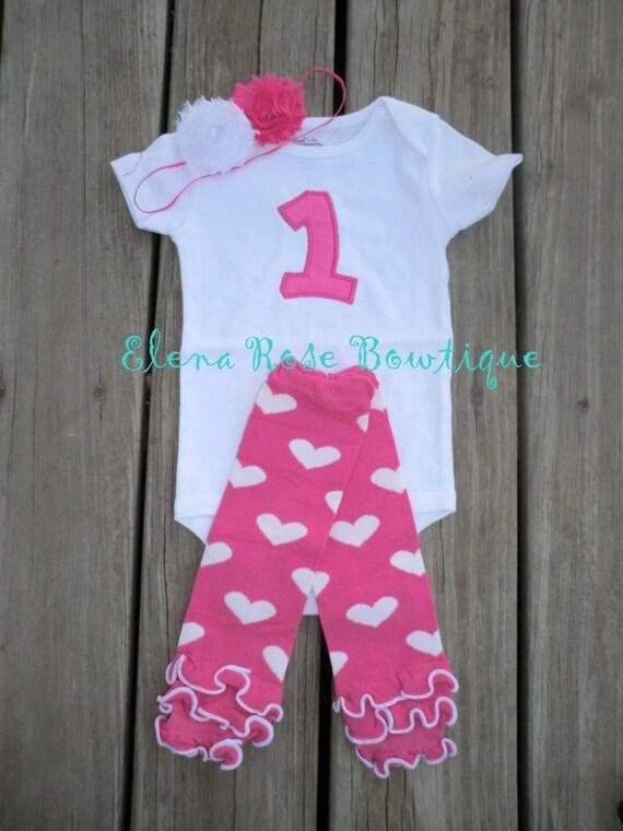 Birthday onesie - 1st birthday outfit - birthday leg warmers - pink leg warmers - 2nd birthday outfit