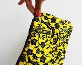 African Clutch - African wax fabric and a zipper - Choose your African wax design - Handmade