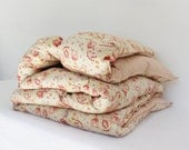 Beautiful Old Paisley Feather Filled Eiderdown - Vintage - Single / Twin Size - BlueyLovesCocoa