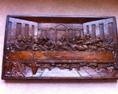 Wonderful old hand carved wooden depiction of The Last Supper