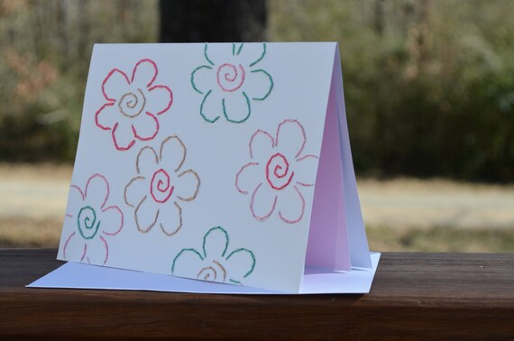 Valentine's Day // Embroidered Floral Note Card