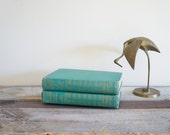 Vintage Emerald Green Book Collection  Mid Century The Saint