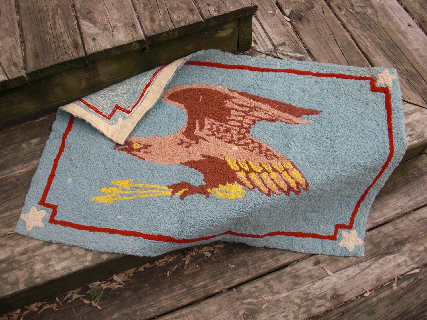 Very Vintage Rug Vintage Wall Decor by NorthboundSalvage on Etsy
