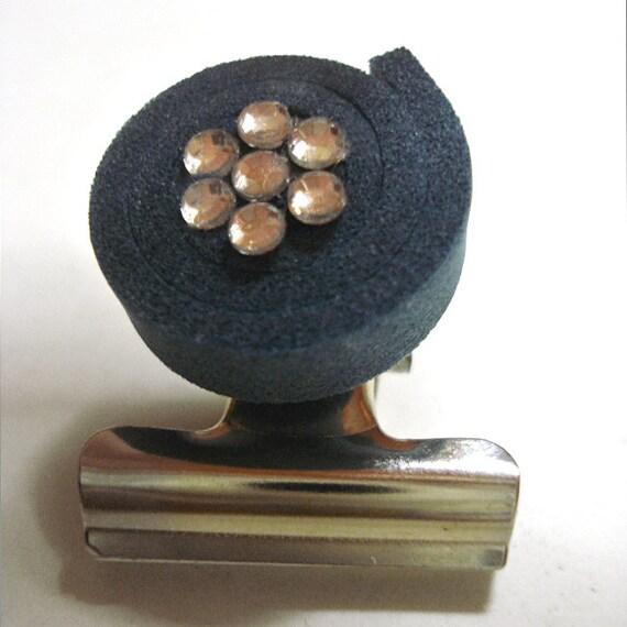 Fermcarte Spirale in Moosgummi & strass -  Creato a mano