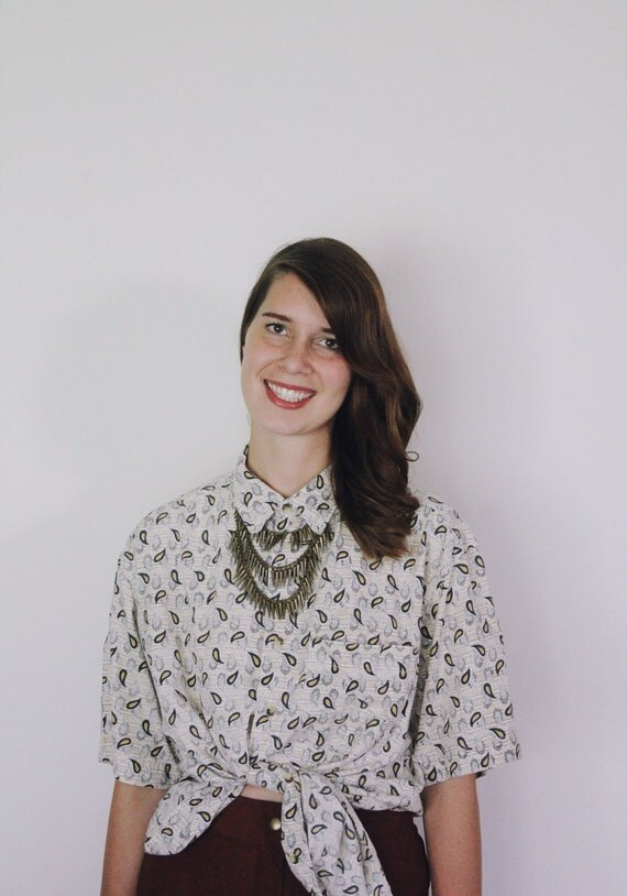 Vintage 1990s Sunday Flea Market Blouse