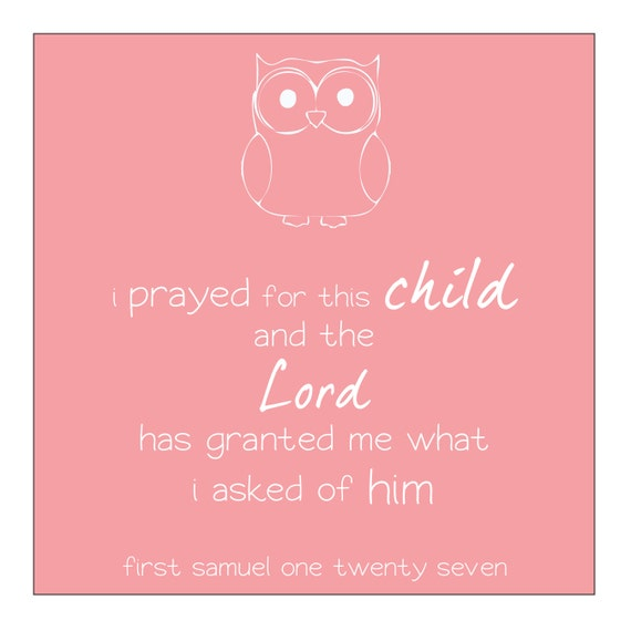 owl baby room print pink great design