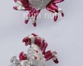 sterling silver 925 crab earrings