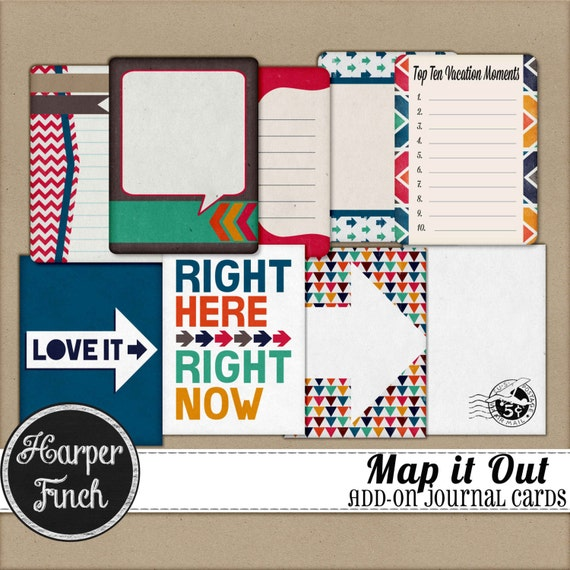 Map It Out Journal Cards