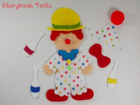 Storybook Felts Felt My Little Clown Doll Dress Up Set 13 PCS