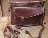 Old Leather Crown Camera Bag 1950s
