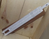 Vintage 1968 Acu Math 400 Slide Rule