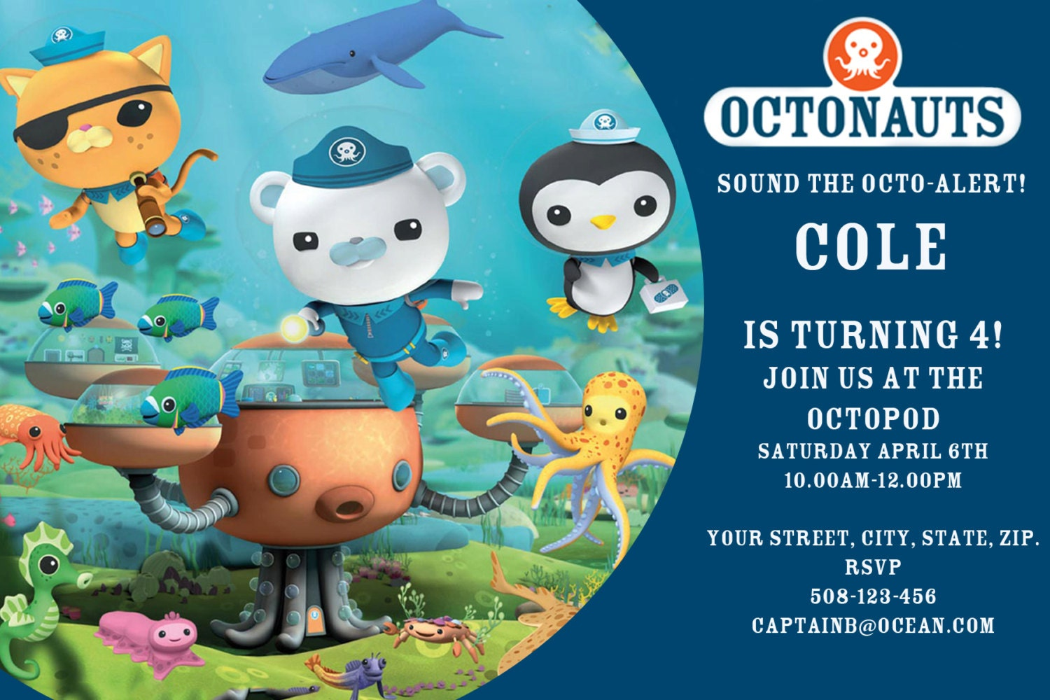 Octonauts Birthday Invitations was very inspiring ideas you may choose for invitation ideas