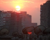Sunset Over the Rooftops in Central Cairo, Egypt - 1oh1oh1