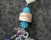Wine Cork Necklace with Blue Details
