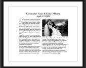 Custom Lustre Wedding Announcement Keepsake Art Print - 8x10 in. WA1: BWL
