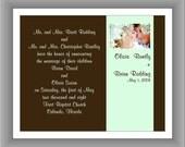 Custom Lustre Wedding Announcement Keepsake Art Print - 8x10 in. WA2: BWP