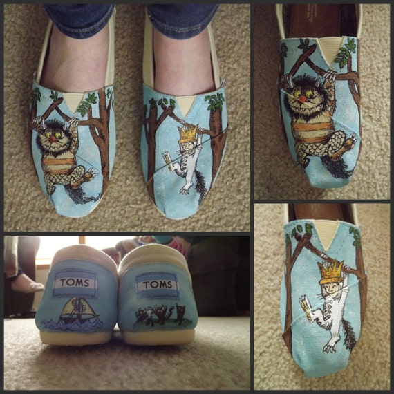 Where the Wild Things Are Custom Hand Painted Shoes