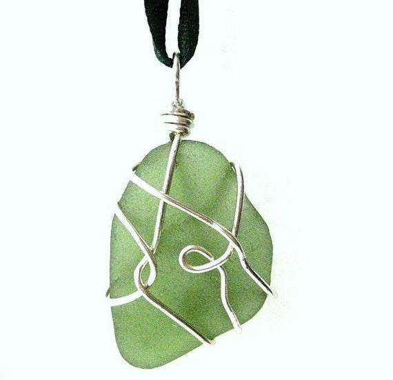 Sea Glass Suncatcher from Ireland. Irish Beach Glass Ornament or Pendant