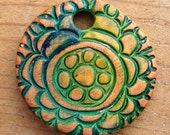 Gyspy Coin Pendant   - Large Colorful Bohemian Pendant