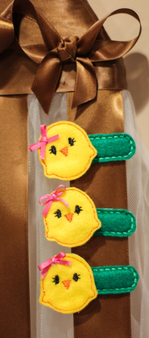 Peep Chic Hair Clip Easter alligator Clip Felt Clip