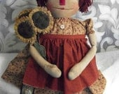 Primitive Raggedy Annie doll PATTERN,  original by Dumplinragamuffin
