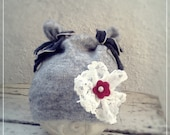 Newborn Photo Prop Hat, Upcycled Baby Hat, Gray Photo Prop, Girl Photo props, Etsy Kids - ZucchiniIsland
