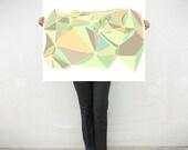 "Extra large print  - Mosaic collection - Geometric print  - Pastel Salmon - Abstract art print - 30""x40"" - villavera"