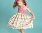Halter Dress Pink, Dress, 6 Months, 12 Months, 18 Months, 2T, 3T, 4T, 5t, 6, 7, 8