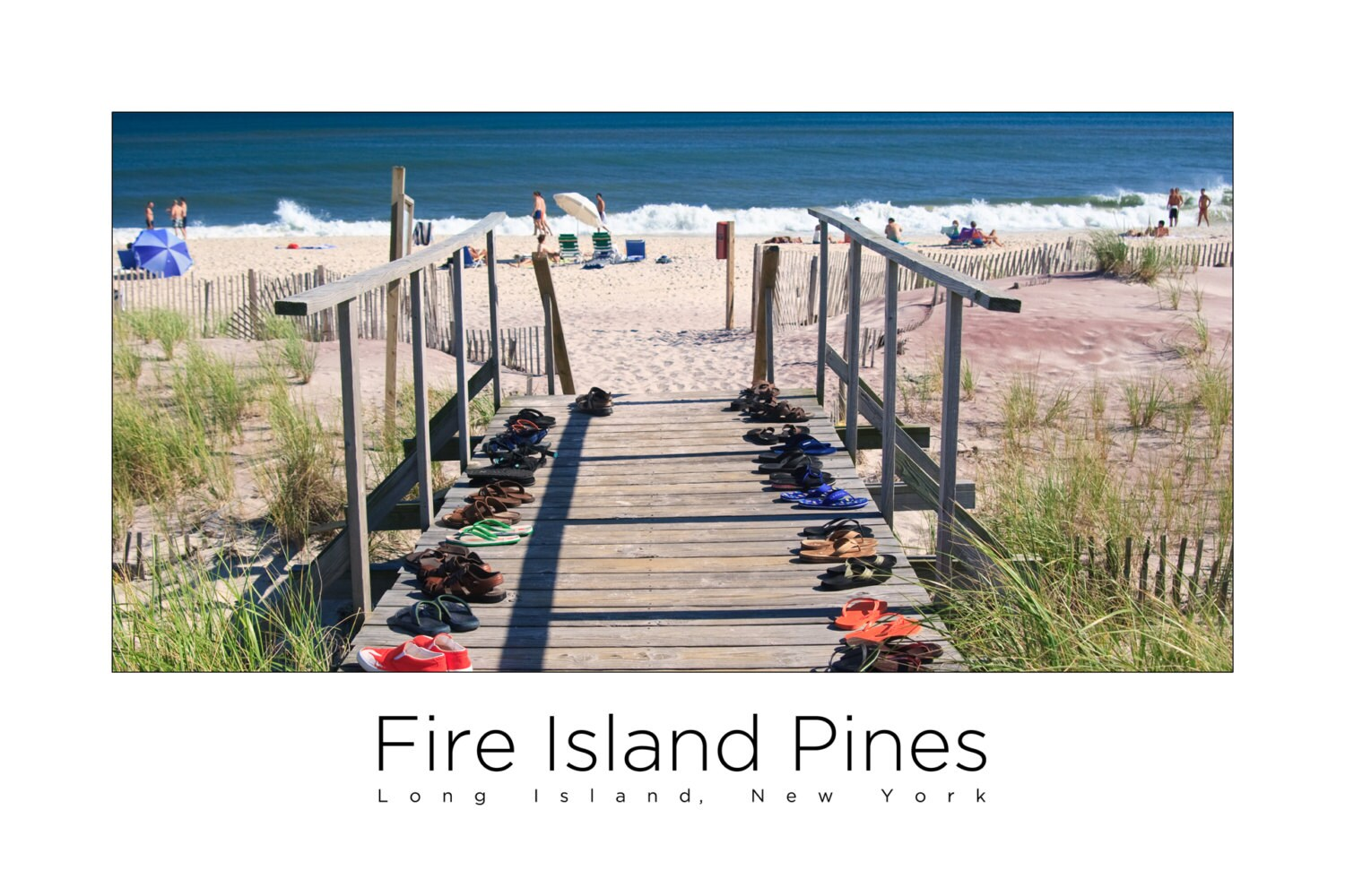 Fire Island Pines Poster - Beach Walk