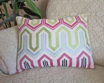 Green Striped Decorative Throw Pillow Cover by asmushomeinteriors