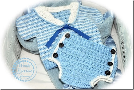 Crochet Pattern for Diaper Cover Soaker and Shirt Top, PDF12-110 INSTANT DOWNLOAD