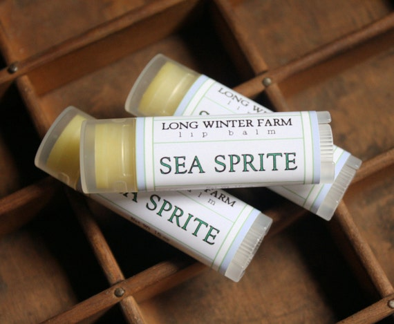 Sea Sprite Lip Balm - One Tube Beeswax Shea Cocoa Butter Jojoba LIMITED EDITION