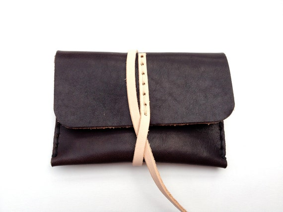 Horween and Premium Leather Slim Wallet or Card Case - Handmade in California - Ready to Ship