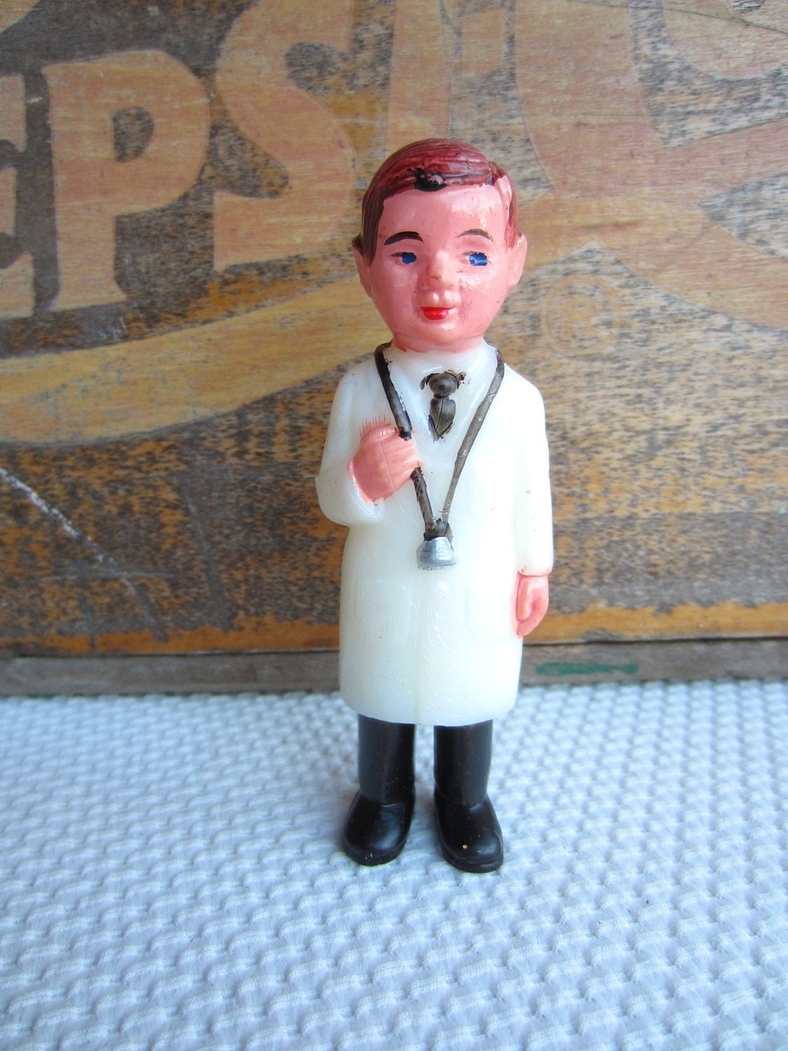 Vintage Doctor Physician Get Well Soon Wilton Cake Topper Decoration